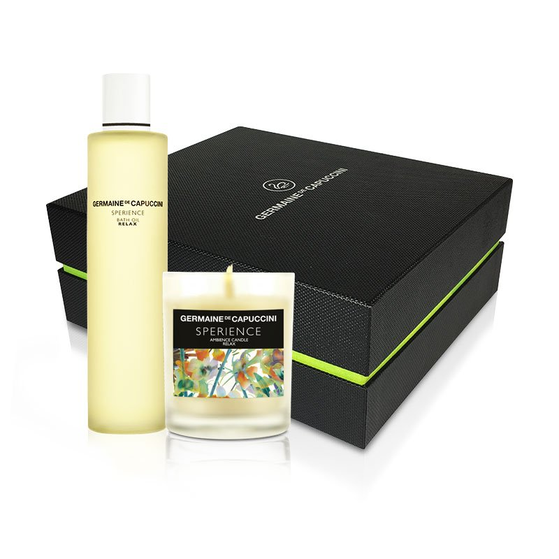 Sperience Gift Box - Λάδι μασάζ και αρωματικό κερί